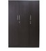 Smart Three Door Wardrobe in Wenge Colour by Crystal Furnitech