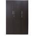 Smart Three Door Wardrobe in Wenge Colour by Crystal Furnitech