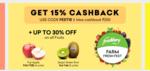 Grofers 15% cashback upto 200 on Fruits/vegetables