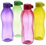Tupperware Aquasafe Water Bottle Set, 500ml, Set of 4 for