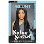 BBLUNT Salon Secret High Shine Creme Hair Colour, Natural Black 1, 100g with Shine Tonic, 8ml by BBLUNT