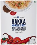 Chef's Basket Hakka Noodles Box with Schezwan and Manchow Soup, 440g