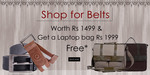 Get laptop bag worth Rs 1999 Free when you spend 1499