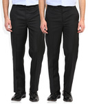 Wills Lifestyle Regular Fit Pack of 2 Trouser
