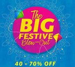 Myntra blow out sale : Minimum 40% -70% off on men and women fashion + Upto 100% cashback via Mobikwik