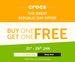 Buy 1 Get 1 Free on Crocs Footwear