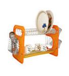 Home Creation Orange Stainless Steel Utensils Kitchen Rack @ Pepperfry