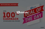 Deal of the Day: Recharge or Pay Bills & Get Cash Voucher Worth Rs.40 Mobikwik