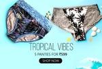 Clovia : 5 Panties for Rs.599