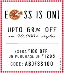 Abof is offering Apparels & Shoes under Rs. 599/-