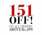 Get Rs.151 off on orders worth Rs.499