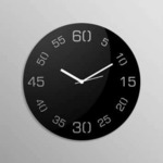 Creative Width Point Sixty Black Wall Clock @ Fabfurnish