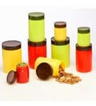 Lowest - Steelo Transparent 200 Ml - 3/800 Ml - 3/1100 Ml - 3 Pcs Storage Container - Set of 9