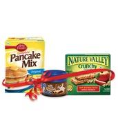 Betty Crocker Pancake 250gm + Pillsbury milk chocolate spread 180 gm+ Nature Valley Crunchy