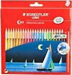Staedtler Luna Trislim Half Size Watercolor Pencils, 12 Shades- Rs  110