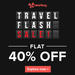 Flat 40% Cashback on Travel deals (Max Rs 5000)