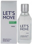 Eau de toilette men united colors of benetton 100 lets move original imadhycqyxzhthjg