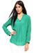 Raindrops Green Solid Blouse
