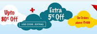 EOM Sale - Get Upto 80% + Extra 5% OFF on order above Rs.499