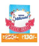 Milkmaid Ice Cream Kit -Contains Milkmaid Tin, Go Cream, Plastic Container & Recipe Booklet low price
