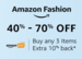 Shop 3 or more products from Amazon Fashion to avail 10% cash back upto 100 as Amazon Pay balance