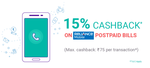 PhonePe – 15% cashback upto Rs.75 on Reliance PostPaid Bills low price