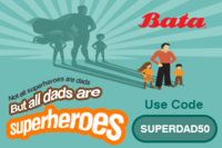 Bata Father's Day Special 50% off