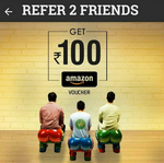 Crownit App : Get Rs.100 Amazon Gift Voucher By Referring 2 Friend