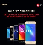 Asus Smartphone Users to get up to 100GB Free Data from Reliance Jio low price
