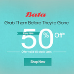 Bata Shoes : Up to 50% off discount deal