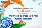 Reliance Independence Day Offer : Unlimited 2G data for 1 year at rs 70 discount deal