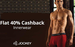40% cashback on Jockey Innerwear