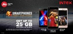 JIO Additional Data Offer for INTEX Mobiles low price