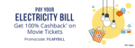 Flat ₹50 Cashback on WBSEDCL (West Bengal State Electricity Board) Bill Payments of ₹500 or more