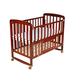 LuvLap Baby Cot with Mattress C-50M - Cherry Red