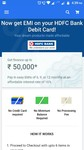 HDFC Debit Card EMI Option available at Flipkart