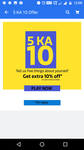 [5 KA 10] Get Extra 10% Off on your next purchase by telling five things about yourself [Only in App]