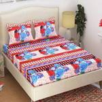 Supreme Home Collective 144 TC Microfiber Double Floral Bedsheet