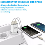 ELV 2 Port Auto Detect Technology USB Wall Travel Charger Adapter ( No USB included ) for all smart mobile devices and Tablets (White)