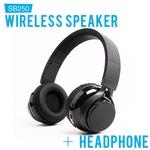 SoundBot SB250 Sou-8288 Bluetooth 2 in one Speaker + Headphone (Black)