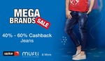 Shirts & Trousers :- Flat 50% off + Extra 40% cashback