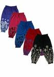 T2F kids girls printed capri (Pack of 5) Blue-Black-Red-Purple-Rose