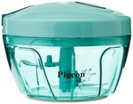 55%  off on Pigeon New Handy Plastic Chopper with 3 Blades, Green @219