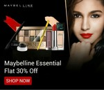 Maybelline Essentials Flat 30% off