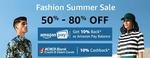 Fashion Summer Sale 50% - 80% OFF + Extra 20% OFF  (AMAZON FASHION)
