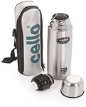 Cello Lifestyle Double Wall 750 ml Flask (Pack of 1, Silver)