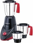 Morphy Richards AERO PLUS 500 W Mixer Grinder  (Black & Wine, 3 Jars)