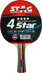 Stag 4 Star Red, Black Unstrung Table Tennis Racquet