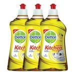 Dettol Kitchen Gel - 400 ml (Lemon, Pack of 3)