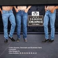9b863170d2f7 Set of 3 Fashion Denims for Men by Mr. Tusker | DesiDime